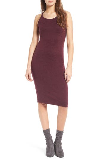 Women's Leith Melange Body-Con Dress, Size X-Large - Burgundy