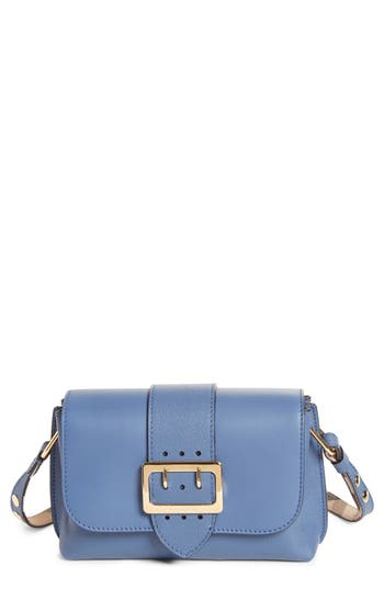 Burberry Small Buckle Leather Crossbody Bag - Blue