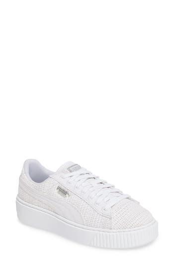 Puma Basket Platform Sneaker- White