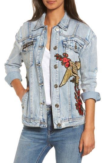 True Religion Brand Jeans Denim Trucker Jacket, Blue