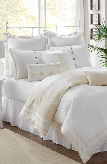 Southern Tide Southern Hospitality Comforter, Sham & Bed Skirt Set, Size Queen - Beige