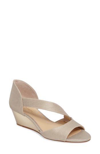 Imagine By Vince Camuto Jefre Wedgee Sandal- Metallic