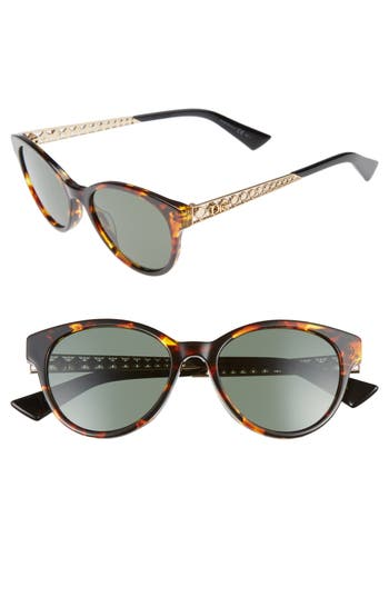 Dior Diorama Mini 52Mm Mirrored Lens Special Fit Sunglasses - Havana/ Gold
