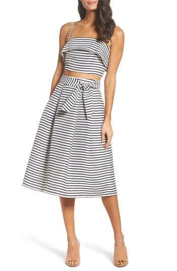 Bb Dakota Grace Stripe Two-Piece Dress, Ivory