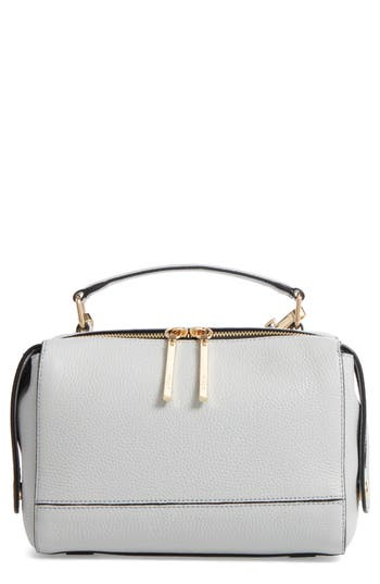 Milly Astor Leather Top Handle Satchel - Grey