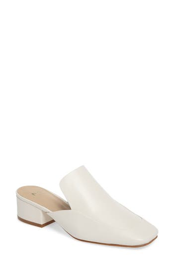 Women's Marc Fisher Ltd Lailey Block Heel Mule, Size 5 M - White