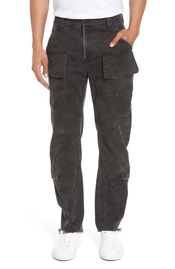 Hudson Jeans Endeavor Relaxed Straight Leg Cargo Pants, Grey