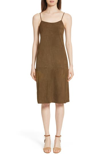 Women's Theory Telson S Metises Suede Slipdress