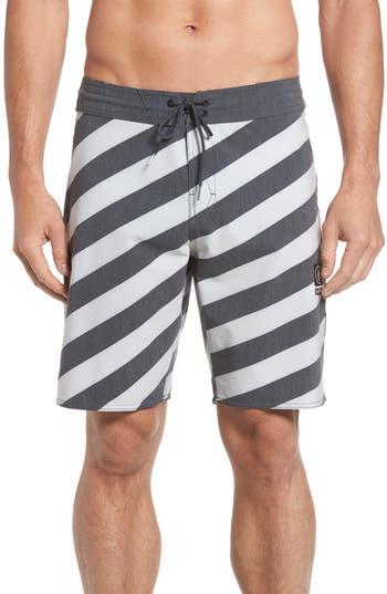 Volcom Stripey Slinger Board Shorts, Black