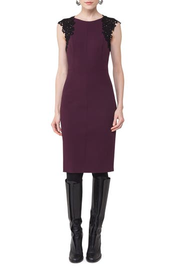 Akris Punto Lace Trim Sheath Dress