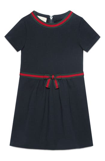 Girl's Gucci Stripe A-Line Dress