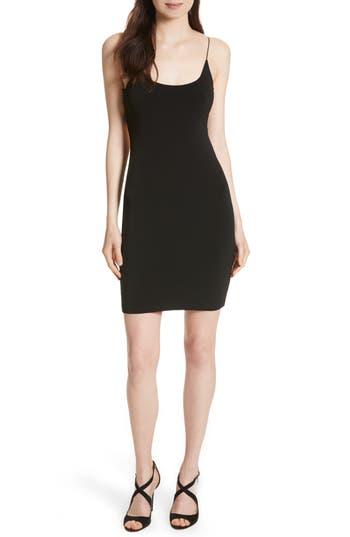 Alice & Olivia Jordy Elastic Strap Back Minidress, Black