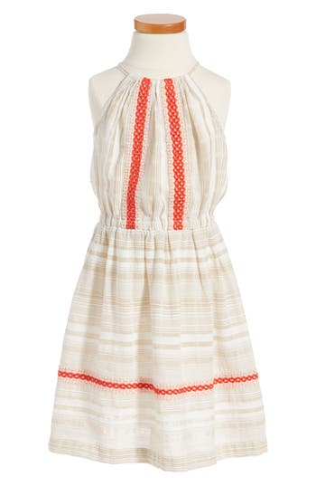 Girl's Tucker + Tate Embroidered Woven Dress