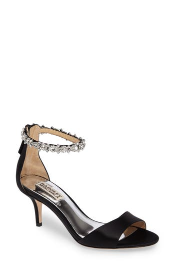 Badgley Mischka Geranium Embellished Sandal- Black