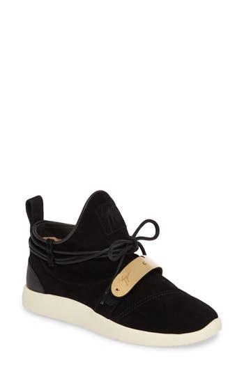 Giuseppe Zanotti Gold Band Sneaker, Black