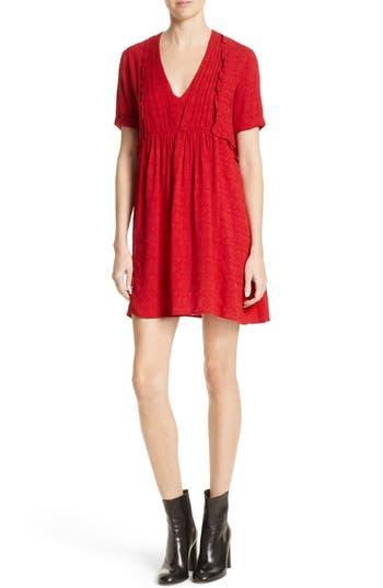 The Kooples Ruffle Dress, Red