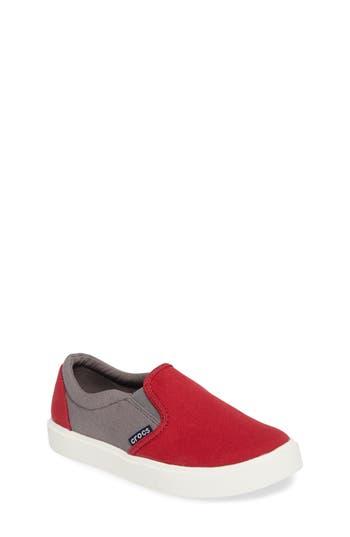 Toddler Boy's Crocs(TM) Citilane Slip-On, Size 6 M - Red