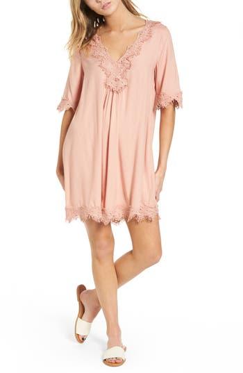 Women's Hinge Lace Trim Shift Dress