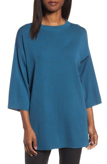 Eileen Fisher Merino Wool Tunic, Blue/green
