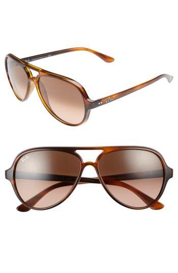 Ray-Ban 5m Resin Aviator Sunglasses - Striped Havana