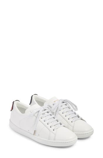 Saint Laurent Court Classic Lips Sneaker, White