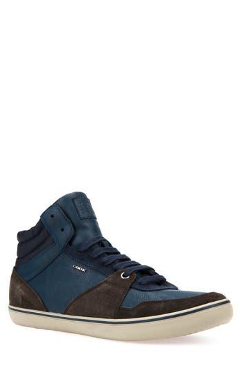 Geox Box 29 High Top Sneaker, Brown