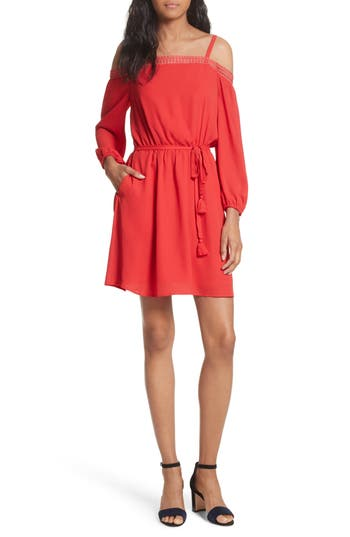 Rebecca Minkoff Paradise Off The Shoulder Dress, Coral
