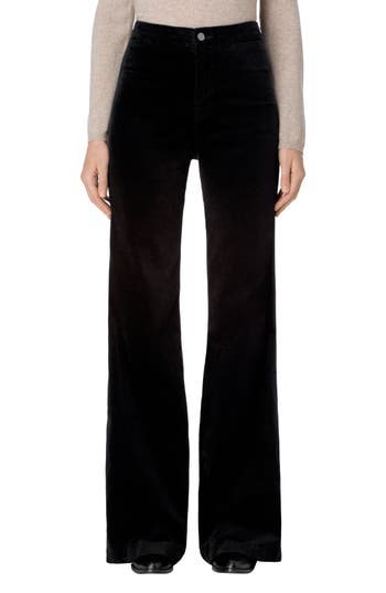 J Brand Isabella High Rise Flare Leg Pants, Black