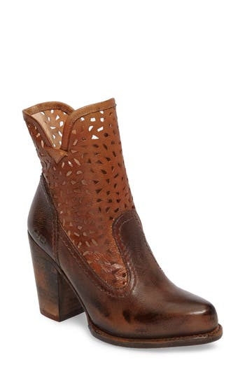 Bed Stu Irma Perforated Boot- Brown