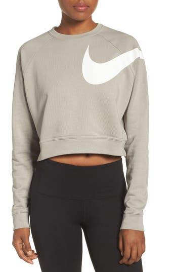 Nike Dry Versa Training Crop Top, Grey