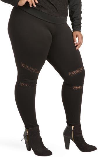 Plus Size Poetic Justice Janet Curvy Fit Leggings, Black