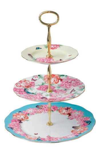 Miranda Kerr For Royal Albert Mixed Accents 3-Tier Cake Stand, Size One Size - Pink