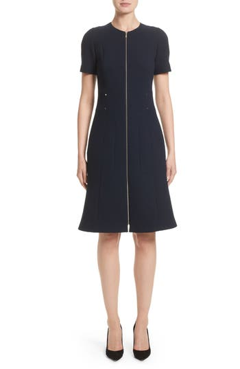 Lafayette 148 New York Sonya Nouveau Crepe Dress, Blue