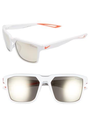 Nike Bandit R 5m Sunglasses - Matte White/ Bright Crimson