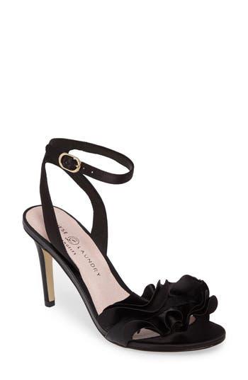 Chinese Laundry Janey Ruffled Sandal, Black