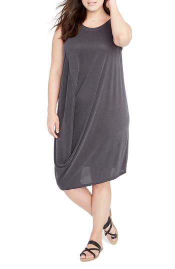 Plus Size Rachel Rachel Roy Drape Front Shift Dress, Black