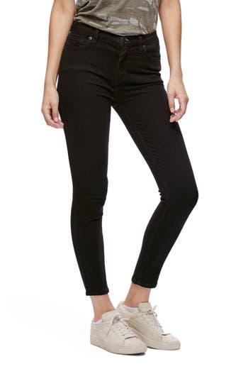 Free People Gummy High Waist Crop Jeans, Black