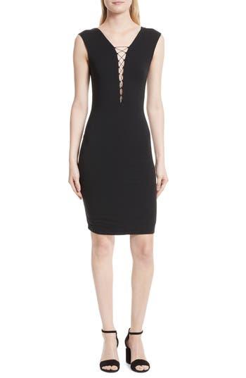 Alexander Wang Lace-Up Dress, Black