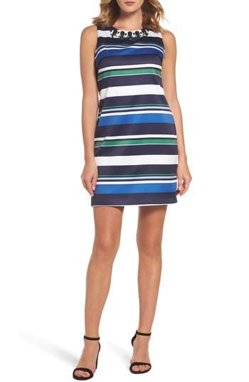 Vince Camuto Beaded Sheath Dress, Blue