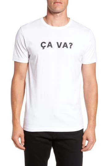 French Connection Ca Va? Graphic T-Shirt, White
