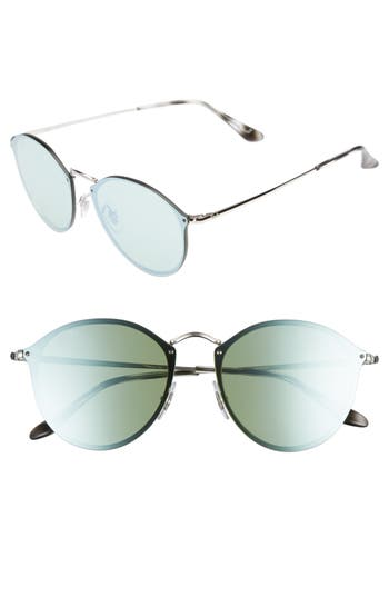 Ray-Ban 5m Round Sunglasses - Silver/ Dark Green Mirror