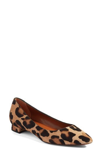 Aquatalia Perla Weatherproof Genuine Calf Hair Ballerina Shoe, Brown