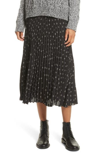 Women's Vince Tossed Ditsy Floral Pleated Skirt