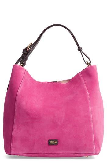 Frances Valentine Medium June Suede Hobo Bag - Pink