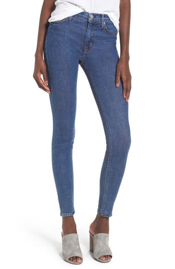 Hudson Jeans Barbara High Waist Super Skinny Jeans, Blue