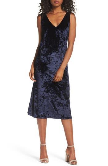 Bb Dakota Catrall Velvet Midi Dress, Blue