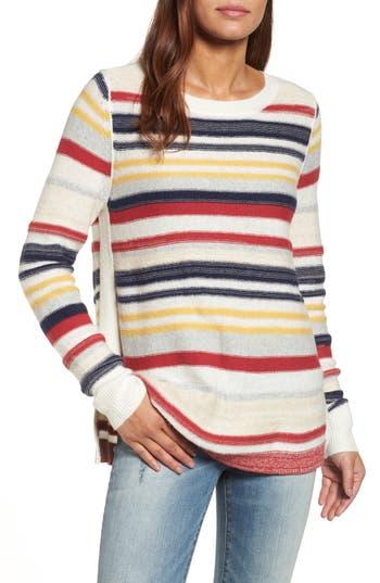 Women's Caslon Reverse Stripe Sweater, Size X-Small - Ivory