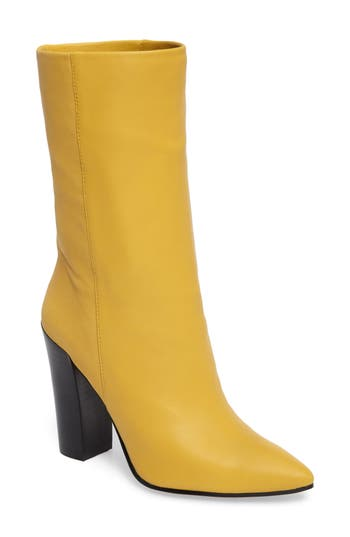 Dolce Vita Ethan Pointy Toe Bootie, Yellow