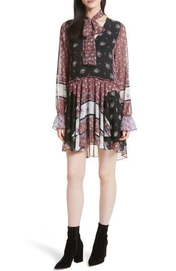 Rebecca Minkoff Fiona Print Shift Dress, Black