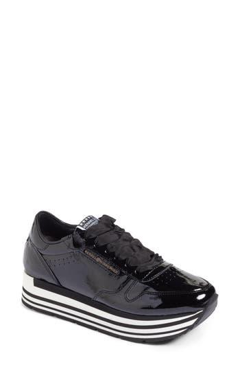 Kennel & Schmenger Nova Patent Leather Sneaker, Black